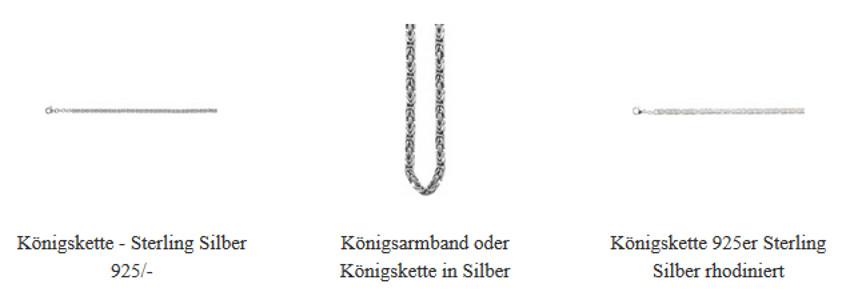 Königskette Armband Silber massiv