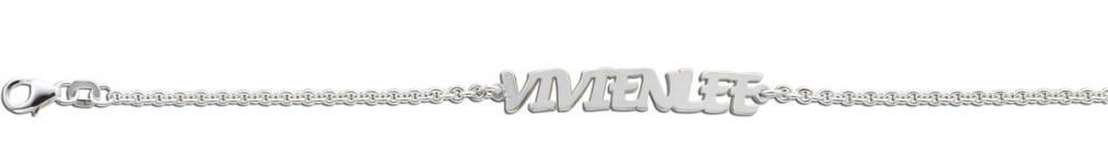 Silbernes Namensarmband