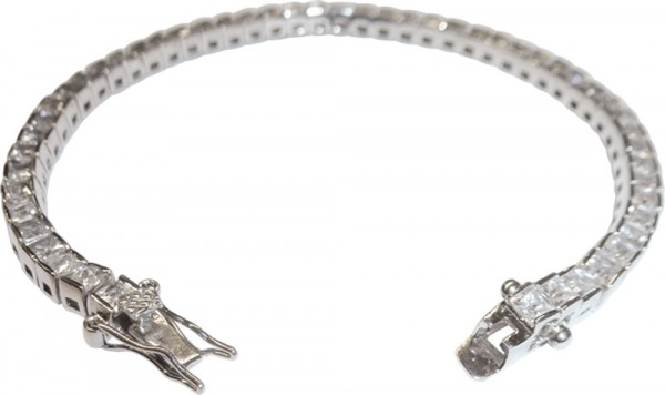 feines Tennisarmband in Silber Sterlings...