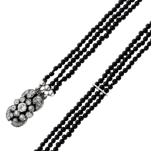 Armband Antik Art deco Silber 800/- Onyx...