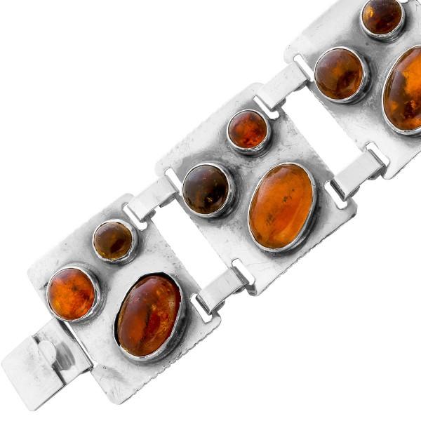 Bernstein Armband Sterling Silber 925 An...