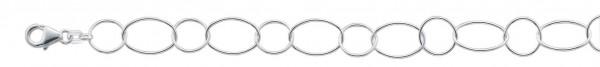 Silberkette/ -armband  Ankerkette/ -armband aus echtem Silber Sterlingsilber 925/-, massiv.  Durchmesser ca. 9,8 mm, Stärke ca. 0,8 mm, mit sicherem Karabinerverschluss, beliebig verkürzbar. Passend für alle Sammelsysteme. Bei uns erhältlich in den folgen