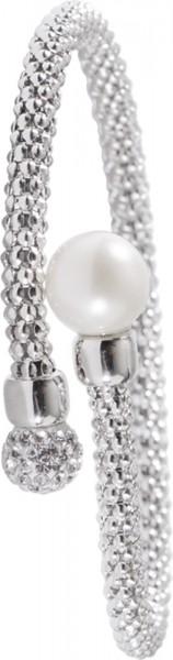 Armreif Silber Sterlingsilber Perle Zirkonia