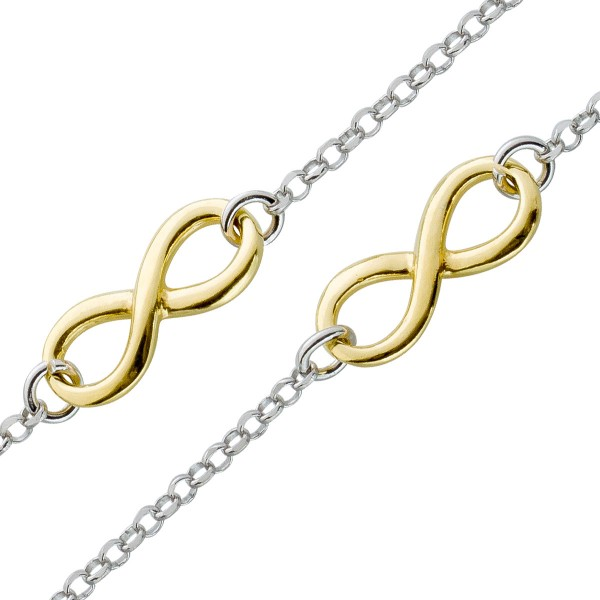 Collier Infinity Sterling Silber 925 ver...