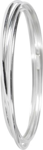 Armreif in Silber Sterlingsilber 925/-  Durchmesser 7cm Breite8mm 3 Armreifen ineinanderverarbeitet beweglich rhodiniert