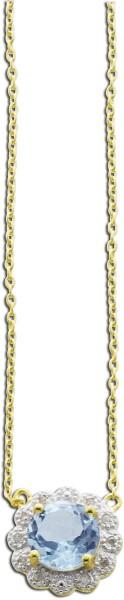 Collier aus Sterling Silber gelbvergolde...