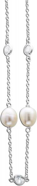 Perlenkette – Perlencollier Silber...