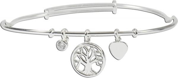 Armreif 925er Sterling Silber Lebensbaum Zirkonia