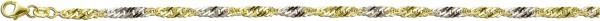 Fusskette Sterling Silber 925  teils vergoldet