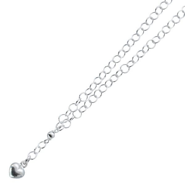Herzkette – Silberkette Sterling Silber 925/-