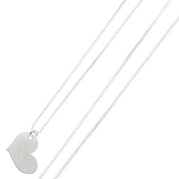 Silberkette – Halskette Sterling Silber 925/- Herzanhänger