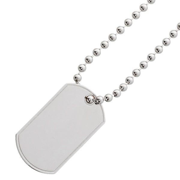 Herrenkette Gravurplatte Dogtag Silberkette 925 Kugelkette