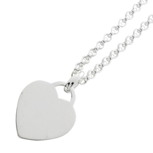 Gravurkette Sterling Silber925 mit  Herzanhänger