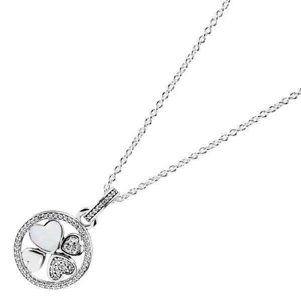 PANDORA SALE – Kette mit Anhänger 390405CZ-70 Herzen der Liebe Silber 925 Cubic Zirkonia silber Emaille