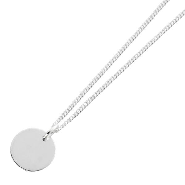 Kette Gravurplatte Silber 925
