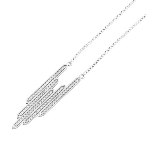 Kette Anhänger Silber 925 Collier Silberschmuck Zirkonia