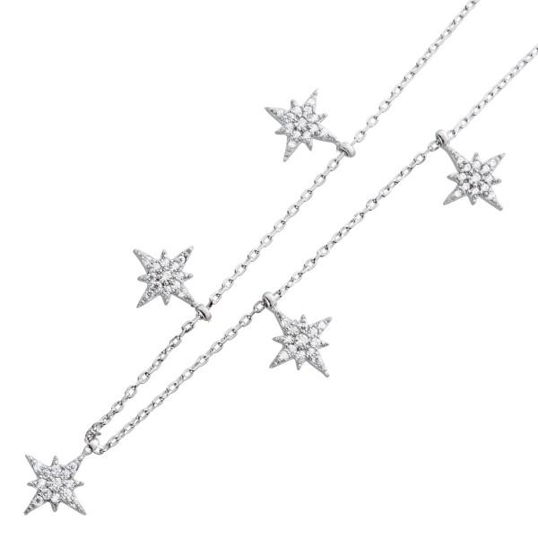 Choker Kinderkette Silber 925 Kette Ster...