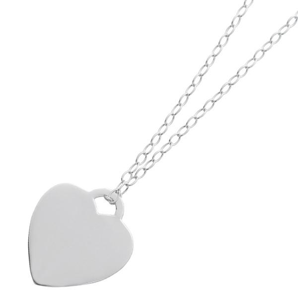 Ankerkette Herz Anhänger Silber 925  Gravurschmuck
