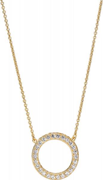 PANDORA SALE Shine Halskette 367121CZ-45 Anhänger klare Zirkonia Silber 925 vergoldet 18kt 45cm Länge