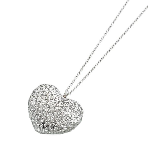 Kleine Herz Anhänger Halskette Herzkette Silber 925 Damen 42+5cm