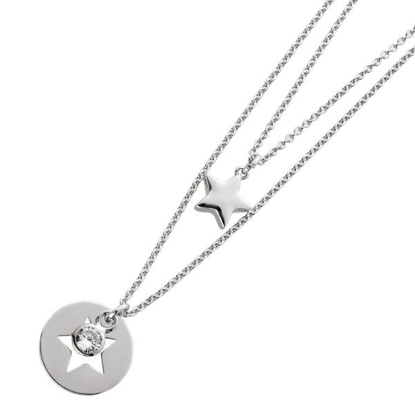 Sternkette 2-reihig Silber 925 ausgestan...