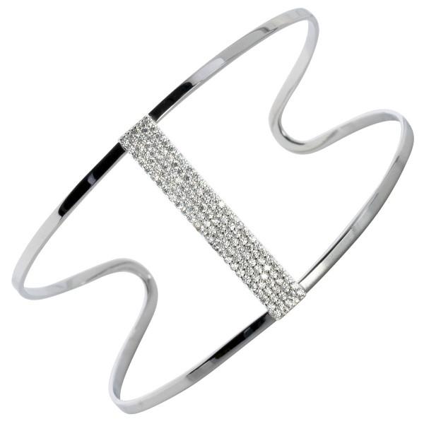 Armreif in Silber – Sterling Silber 925/- mit Zirkonia