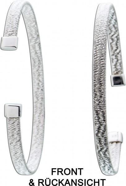 Armreif Silber 925 Armspange glitzer dehnbar Armband