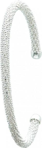 Glamourös eleganter Armreif in 19 cm Länge aus echtem Silber Sterlingsilber 925/-, im exklusiven Design. Breite ca. 4,03 mm, rhodiniert im edlen Weißgoldlook. Ein stylisch angesagtes Schmuckstück zu einem sensationellen Niedrigpreis in Premiumqualität von