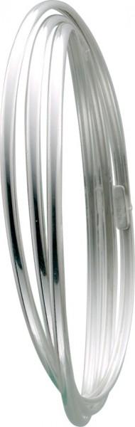 Sehr edle, 3 ineinander verlaufende Armreifen aus echtem Silber Sterlingsilber 925/-, rhodiniert und poliert im exklusiven Design. Durchmesser ca. 7 cm. Ein sehr edles Accessoire, für alle, die das Besondere lieben in feinster Juweliersqualität von Abramo