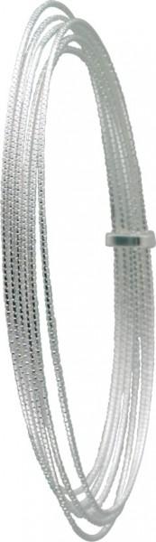 Sehr edle, 6 ineinander verlaufende Armreifen aus echtem Silber Sterlingsilber 925/-, sehr filigran verarbeitet, rhodiniert und poliert im exklusiven Design. Durchmesser ca. 6,5 cm. Ein sehr edles Accessoire, für alle, die das Besondere lieben in feinster