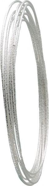 Sehr edle, 9 ineinander verlaufende Armreifen aus echtem Silber Sterlingsilber 925/-, sehr filigran verarbeitet, rhodiniert und poliert im exklusiven Design. Durchmesser ca. 7,5 cm. Ein sehr edles Accessoire, für alle, die das Besondere lieben in feinster